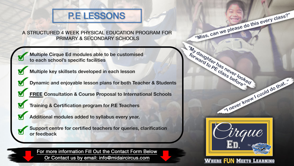 Physical Education Cirque Ed Program - Primary & Secondary School Curriculum