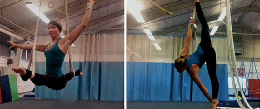 Acro Nat Enjoying Her New Aerial Straps